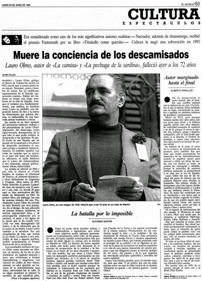 El Mundo Lauro Olmo 1994