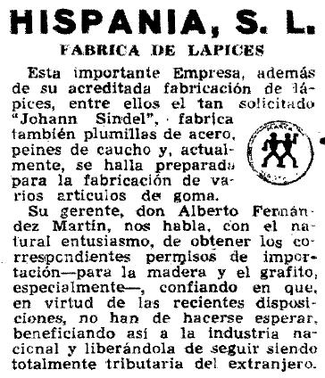 Reseña ABC Fabrica de Lapices_1947