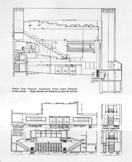Teatro-Cine Figaro_Sección y Detalle