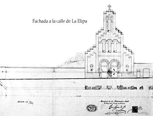 Alzado de la iglesia de Nuestra Señora de Loreto. José Segundo de Lema, 1885.