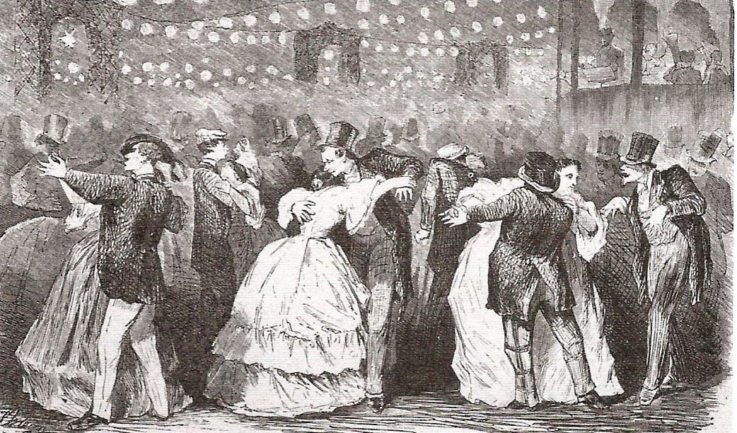 baile en los campos eliseos 1865 la ilustracion espanola y