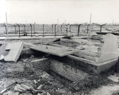 Cementerio de Chamartín de la Rosa. Tumbas vacías en 1966. (Foto: Archivo General de la Administración)