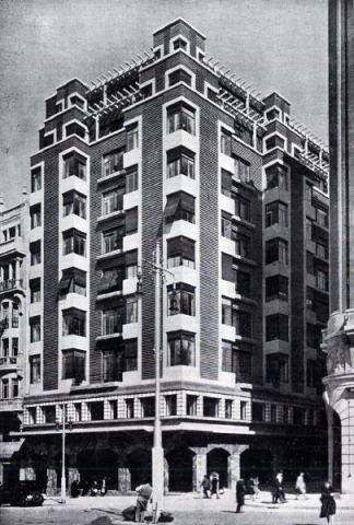 Hotel Nueva York-Cine Actualidades_Gran Vía_Arquitecto M. Muñoz Casajús