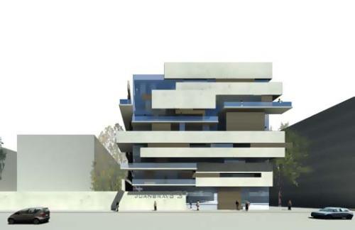 Viviendas en la calle Juan Bravo 3 , según el proyecto de Rafael de la Hoz.
