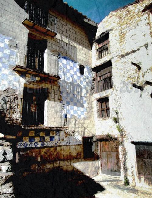 Casas abandonadas en el barrio de la Estrella. (Foto: Enrique F. Rojo, 2012)