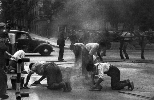 Asfaltado Madrid 1945-Hermes Pato-small