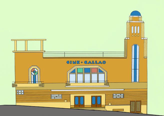 el cine tena capacidad para repartidos en uc filas de butacas cada una palcos anfiteatro y gradaud