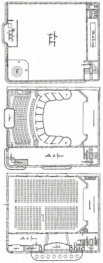 Planos planta cine callao-1935