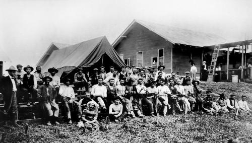 Gallegos en las obras del canal de Panama 1913_MUNCYT