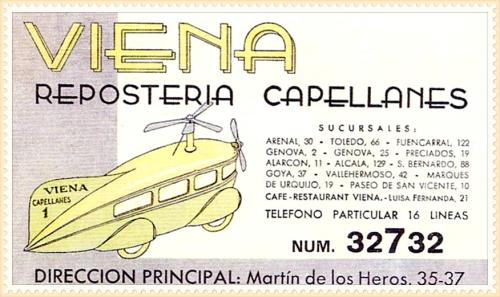 Tarjeta publicitaria 1930