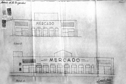 Mercado de la Prosperidad 1952 Fachadas