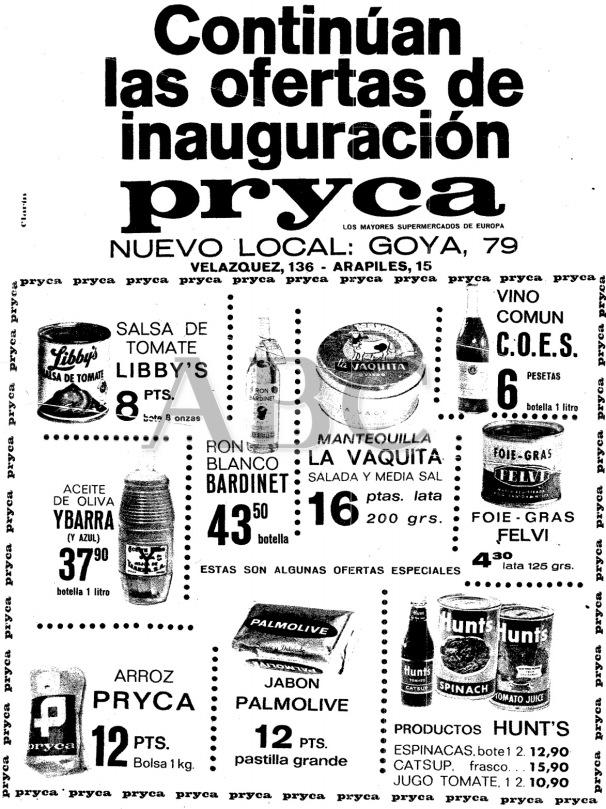 Inauguración Pryca Goya, 79. Año 1966.