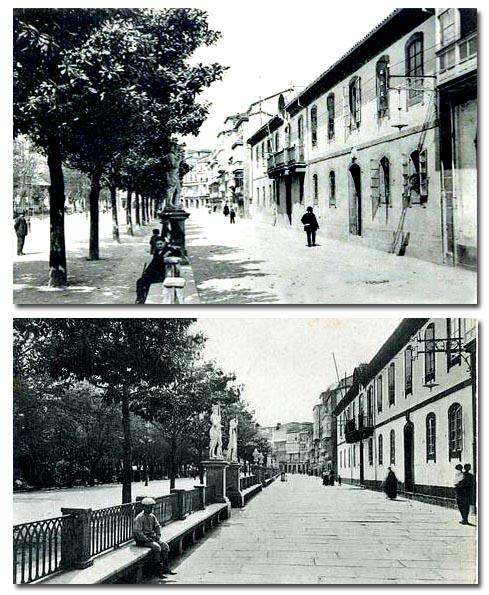 Antiguo Paseo de las Delicias (Cantón de Molíns), c. 1920.