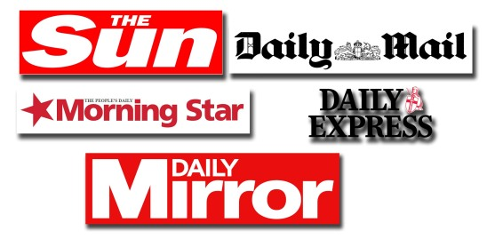 En los medios británicos existen múltiples ejemplos de prensa amarilla: The Sun, Daily Mirror, Morning Star, Daily Express, Daily Mail, etc.