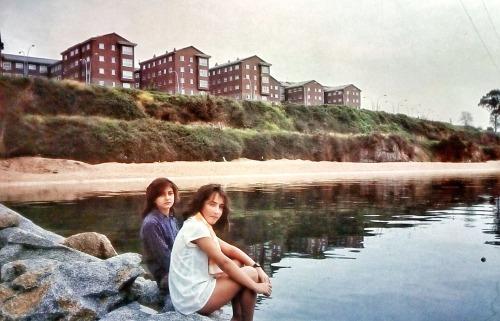 Playa artificial de Caranza en la ría de Ferrol (Foto. Manuel Vilariño, c. 1990)