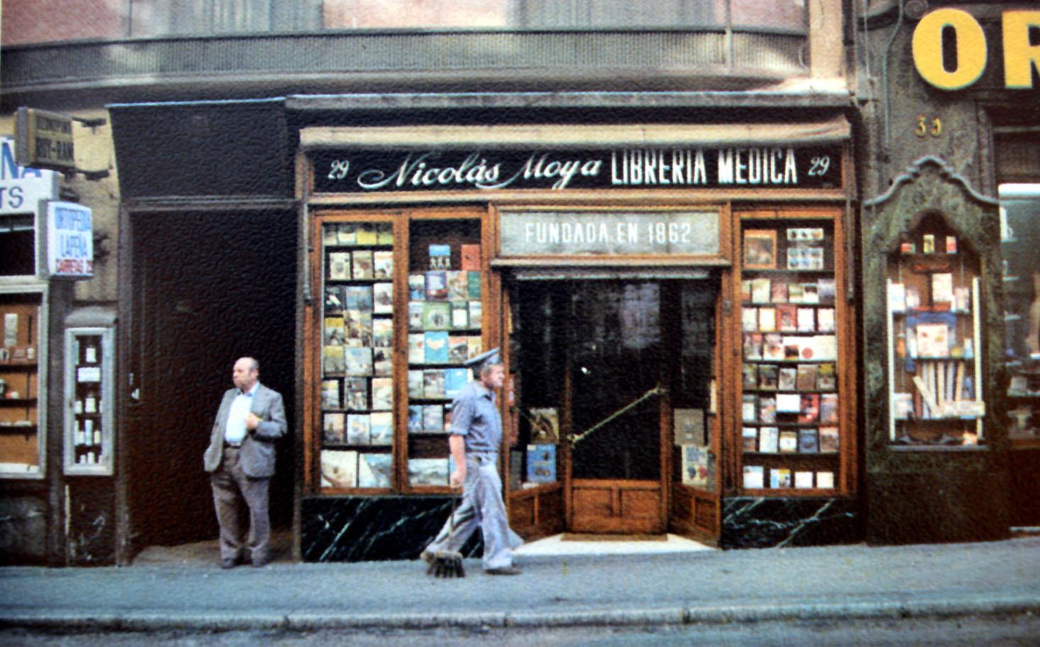 Librería médica Nicolás Moya. Calle Carretas, 29_1980