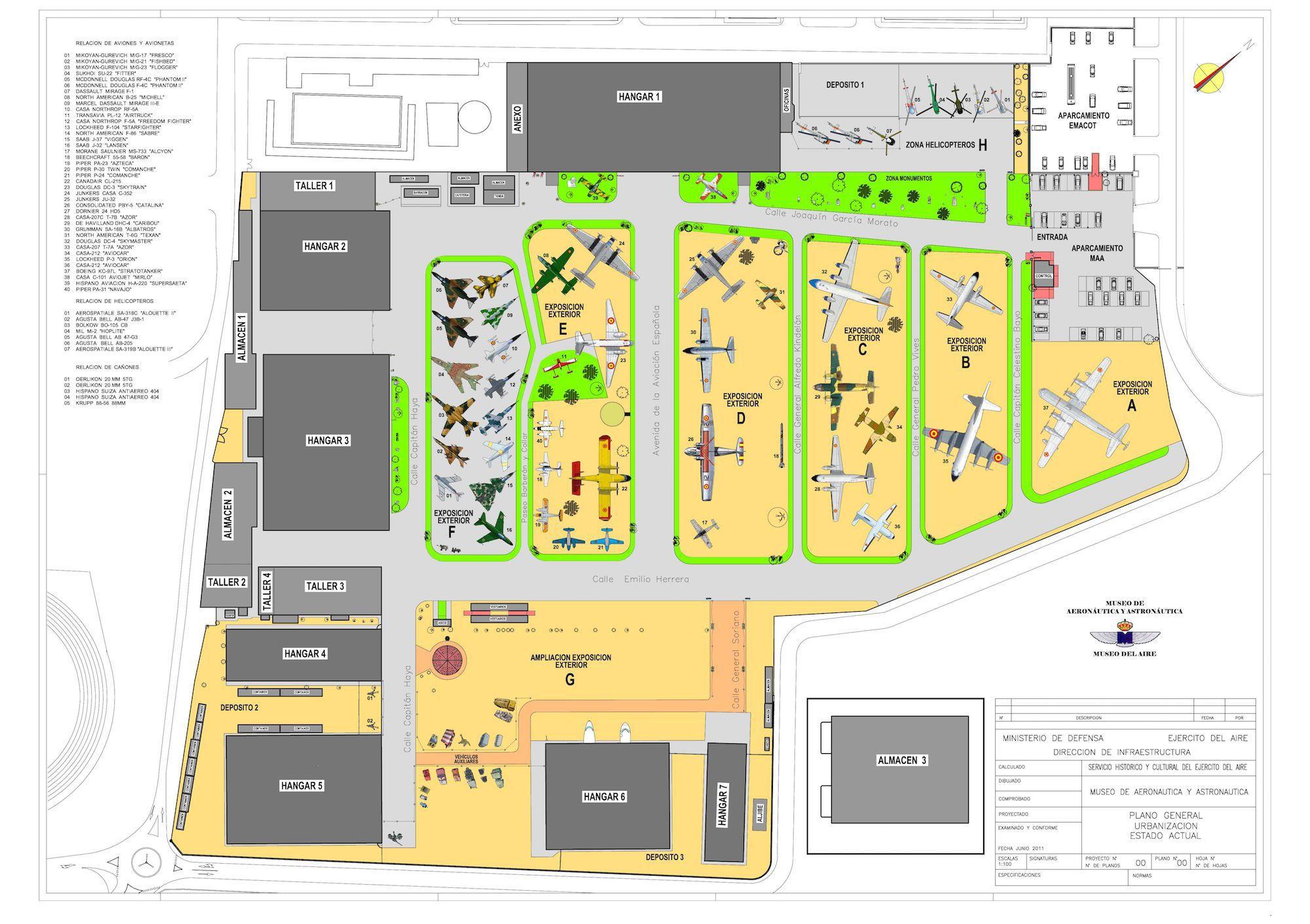 Plano Museo del Aire
