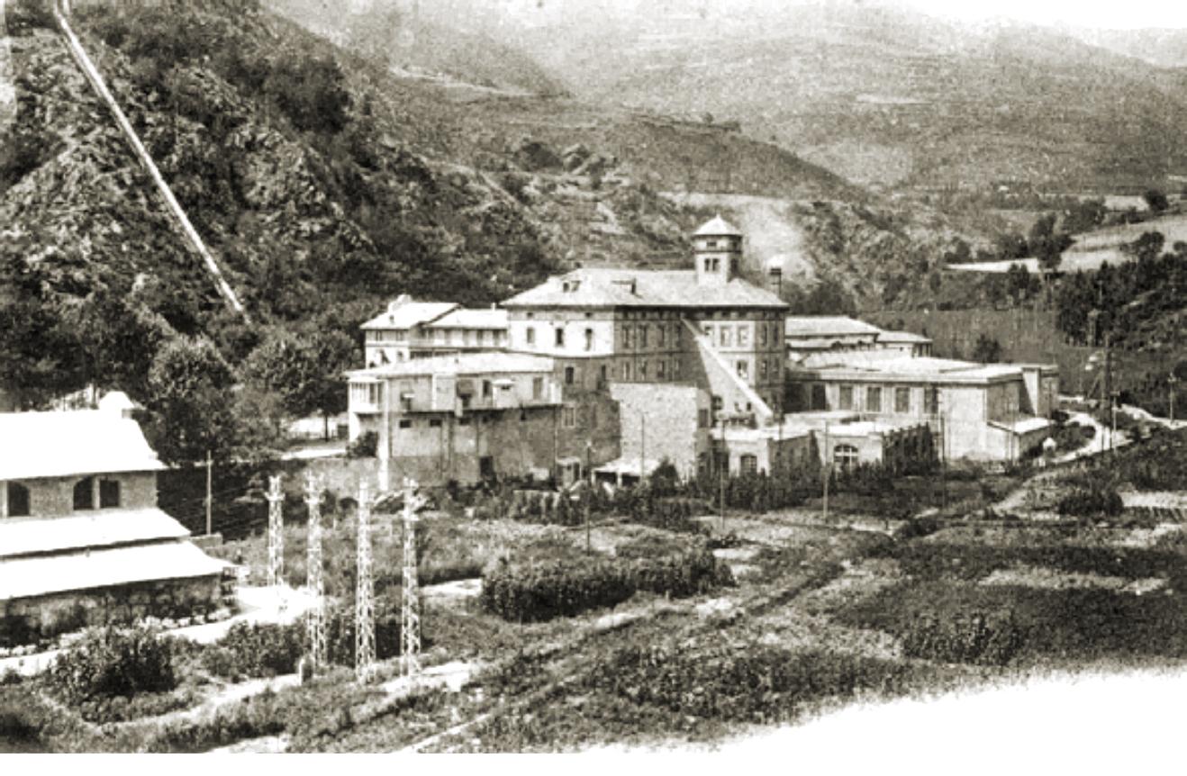 Colonia Recolons, c. 1920. Antigua colonia situada en Ribes de Freser a finales del siglo XIX.