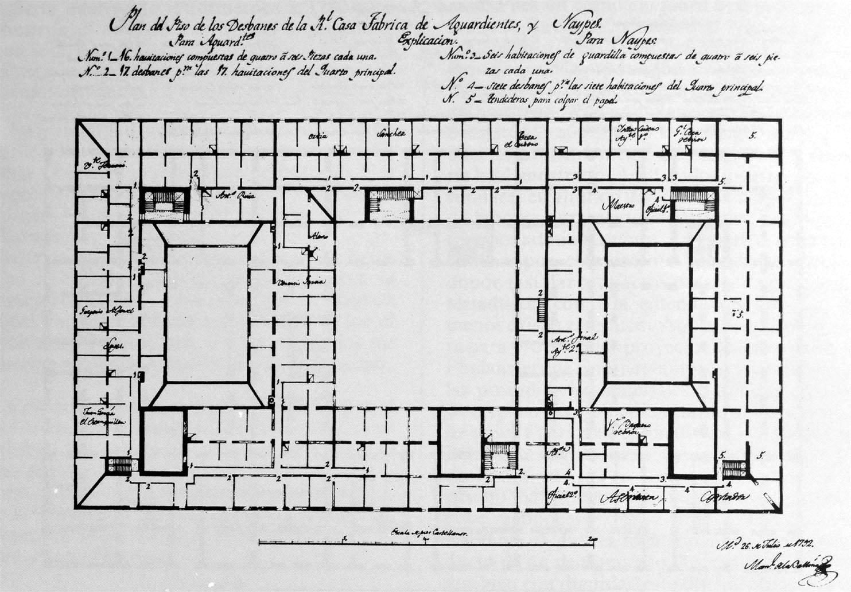 Plano Fabrica de tabacos 1792_Planta Desvanes