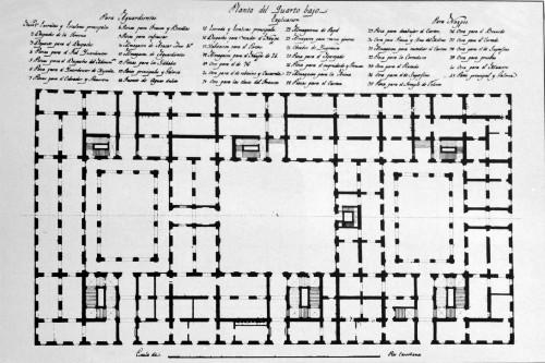 Plano Fabrica de tabacos 1792_Planta baja