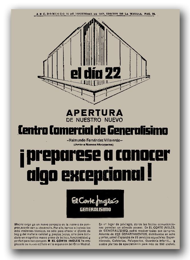 Inauguración Coste Inglés Castellana ABC 1969-02